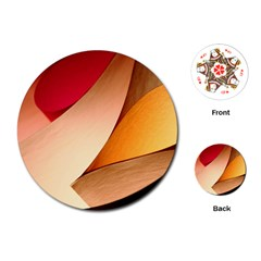 Pretty Abstract Art Playing Cards (round)