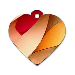 PRETTY ABSTRACT ART Dog Tag Heart (Two Sides)