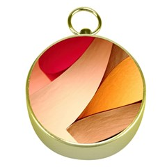 PRETTY ABSTRACT ART Gold Compasses