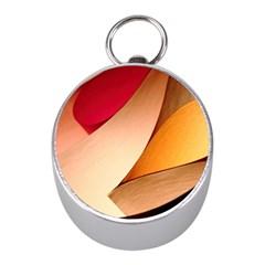 PRETTY ABSTRACT ART Mini Silver Compasses