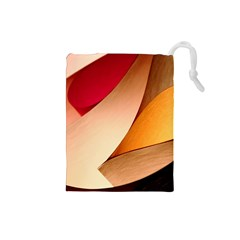 PRETTY ABSTRACT ART Drawstring Pouches (Small)