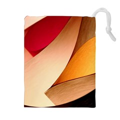 PRETTY ABSTRACT ART Drawstring Pouches (Extra Large)