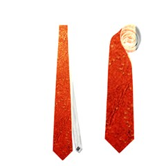 ORANGE DOT ART Neckties (One Side)