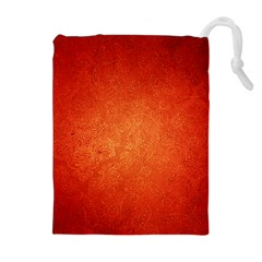 ORANGE DOT ART Drawstring Pouches (Extra Large)