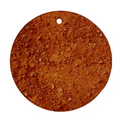 Orange Clay Dirt Ornament (round)