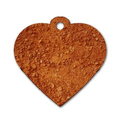 ORANGE CLAY DIRT Dog Tag Heart (One Side)