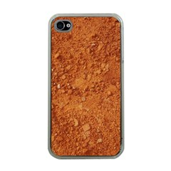 ORANGE CLAY DIRT Apple iPhone 4 Case (Clear)
