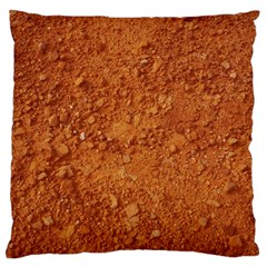 ORANGE CLAY DIRT Large Flano Cushion Cases (One Side)