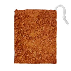 ORANGE CLAY DIRT Drawstring Pouches (Extra Large)