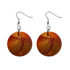 MOSQUITO IN AMBER Mini Button Earrings
