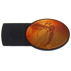 MOSQUITO IN AMBER USB Flash Drive Oval (1 GB)