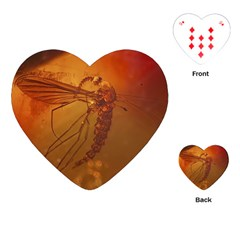 Mosquito In Amber Playing Cards (heart)