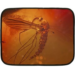 MOSQUITO IN AMBER Fleece Blanket (Mini)