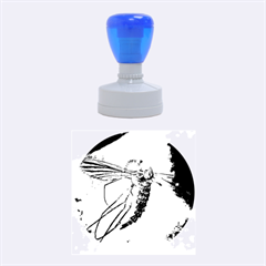 Mosquito In Amber Rubber Round Stamps (medium)