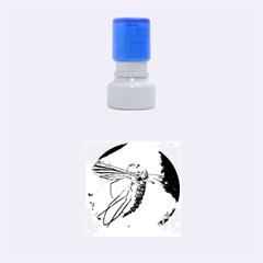 Mosquito In Amber Rubber Round Stamps (small)