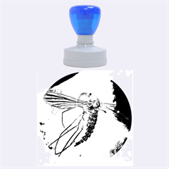 Mosquito In Amber Rubber Round Stamps (large)