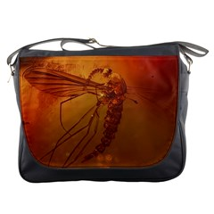 MOSQUITO IN AMBER Messenger Bags
