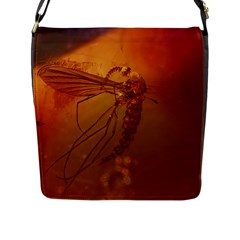 MOSQUITO IN AMBER Flap Messenger Bag (L)