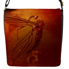 MOSQUITO IN AMBER Flap Messenger Bag (S)
