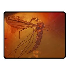 Mosquito In Amber Double Sided Fleece Blanket (small)