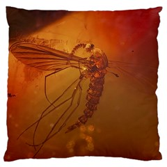 MOSQUITO IN AMBER Standard Flano Cushion Cases (Two Sides)