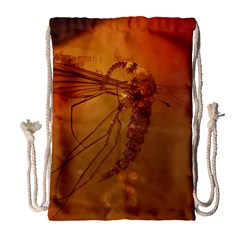 Mosquito In Amber Drawstring Bag (large)