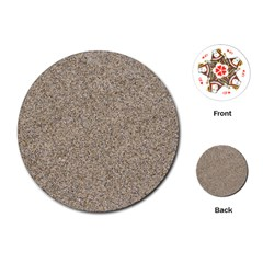 Light Beige Sand Texture Playing Cards (round)