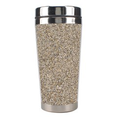 LIGHT BEIGE SAND TEXTURE Stainless Steel Travel Tumblers