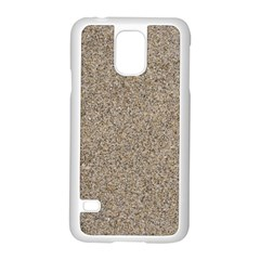 LIGHT BEIGE SAND TEXTURE Samsung Galaxy S5 Case (White)
