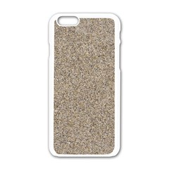 LIGHT BEIGE SAND TEXTURE Apple iPhone 6/6S White Enamel Case