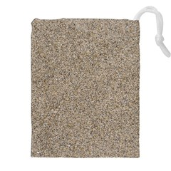 LIGHT BEIGE SAND TEXTURE Drawstring Pouches (XXL)