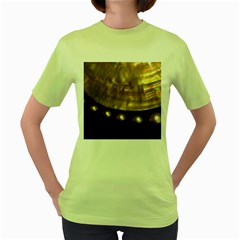 GOLDEN PEARLS Women s Green T-Shirt