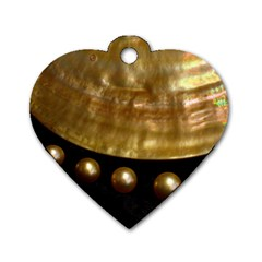 GOLDEN PEARLS Dog Tag Heart (Two Sides)