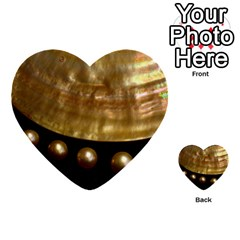 Golden Pearls Multi Purpose Cards (heart)