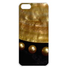 GOLDEN PEARLS Apple iPhone 5 Seamless Case (White)