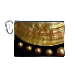 GOLDEN PEARLS Canvas Cosmetic Bag (M)