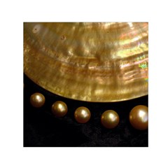 GOLDEN PEARLS Small Satin Scarf (Square)