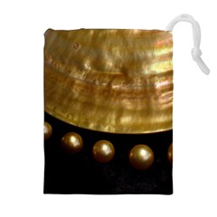 Golden Pearls Drawstring Pouches (extra Large)