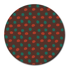 Distorted polka dots pattern Round Mousepad