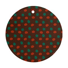 Distorted polka dots pattern Ornament (Round)