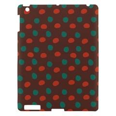 Distorted polka dots pattern Apple iPad 3/4 Hardshell Case