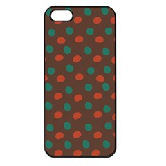 Distorted polka dots pattern Apple iPhone 5 Seamless Case (Black)