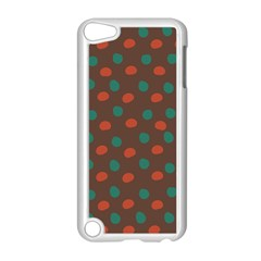 Distorted polka dots pattern Apple iPod Touch 5 Case (White)