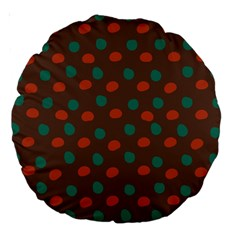 Distorted polka dots pattern Large 18  Premium Round Cushion