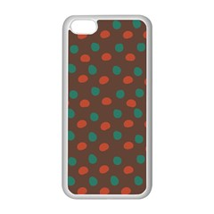 Distorted polka dots pattern Apple iPhone 5C Seamless Case (White)