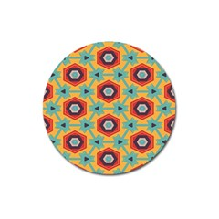 Stars and honeycomb pattern Magnet 3  (Round)