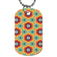 Stars and honeycomb pattern Dog Tag (One Side)