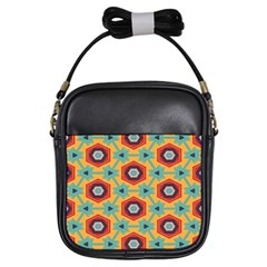 Stars and honeycomb pattern Girls Sling Bag