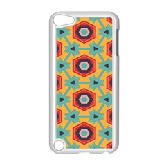 Stars and honeycomb pattern Apple iPod Touch 5 Case (White)