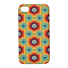 Stars and honeycomb pattern Apple iPhone 4/4S Hardshell Case with Stand